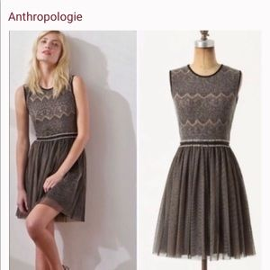 Anthro Weston Wear Fit & Flare Tulle Dress Med